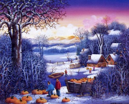 Драган Михайлович. Зимний пейзаж