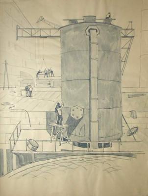 Victor Zosimovich Saplin. The construction of Konakovskaya GRES