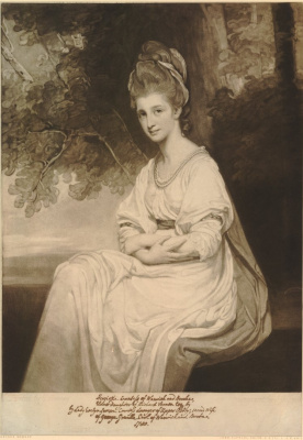 George Romney. Portrait of Henrietta, Countess of Warwick