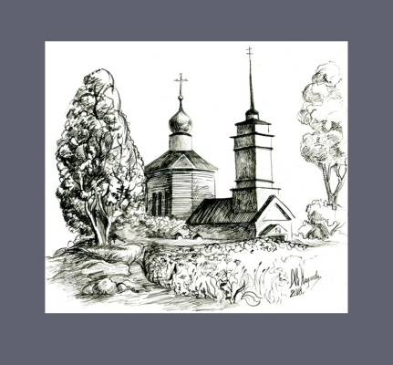 Anastasia Valerievna. Church on Voronich, Trigorskoye