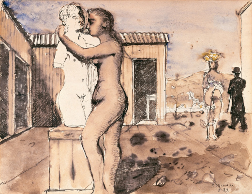 Paul Delvaux Belgium 1897-1994. Study for Pygmalion. 1939 Private collection