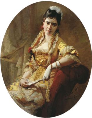 Portrait of singer E. A. Lavrovskaya. Kherson Regional Art Museum. A. A. Shovkunenko, Ukraine