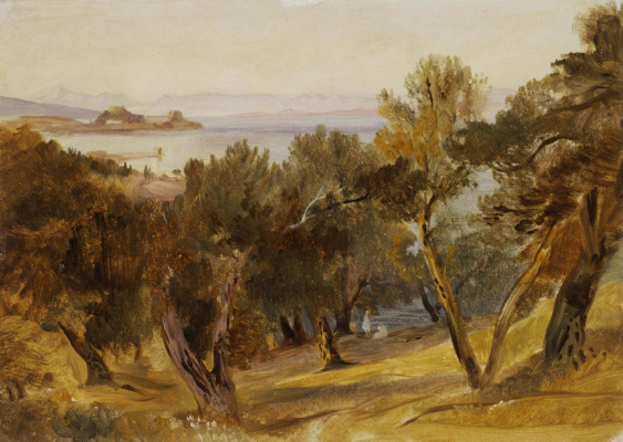 Эдвард Лир. Landscape on Corfu