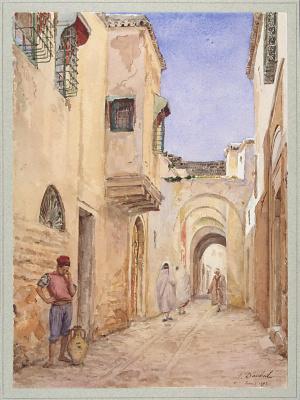 Жюль Добей. Улица в Тунисе