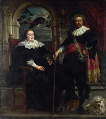 Jakob Jordaens. Portrait of Govert and his wife