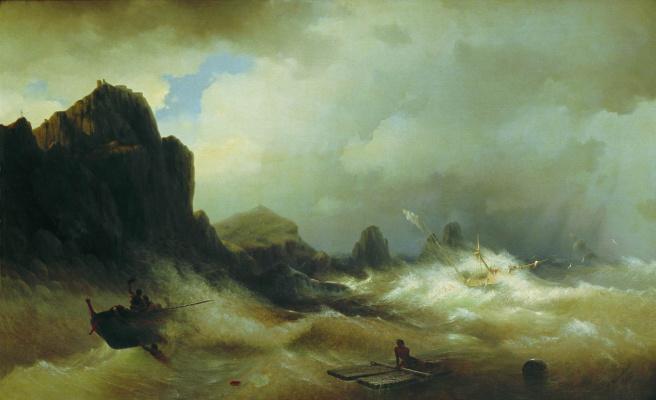 Ivan Aivazovsky. Shipwreck