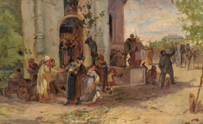 Mikhail Vasilyevich Nesterov. The day of Pentecost. The sketch of the unfinished painting