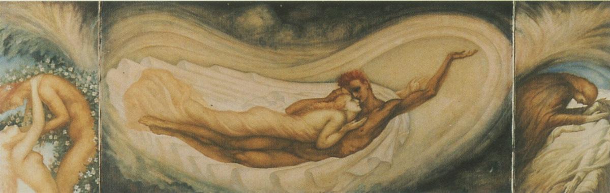 Jean Delville. A dream of love. Triptych