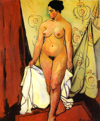 Suzanne Valadon. Nude woman with drapery