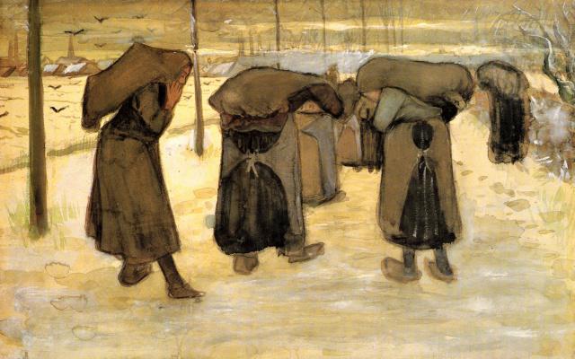 Винсент Ван Гог. Женщины, несущие уголь