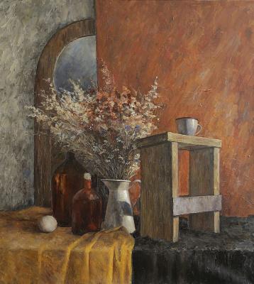 Татьяна Геннадьевна Чепкасова. Натюрморт с сухоцветами