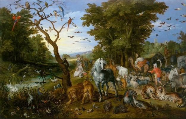 Ян Брейгель Старший. Ной собирает животных в ковчег