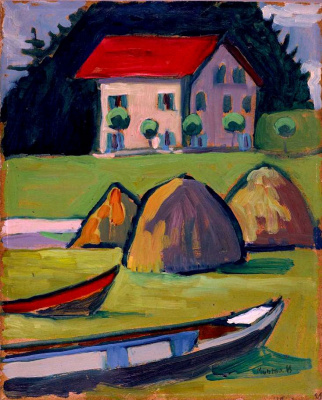 Gabriele Münter. The fisherman's house
