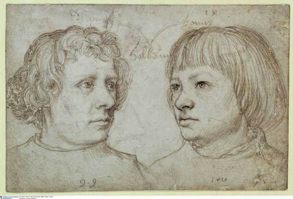 Hans Holbein. The artist's sons Ambrosius and Hans
