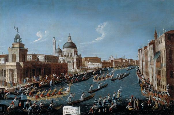 Габриэль Белла. Регата с участием женщин на Гранд Канале в Венеции