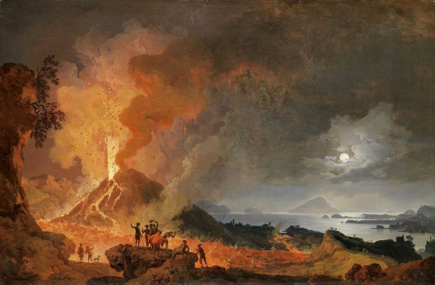 Pierre-Jacques Woller. The Eruption Of Mount Vesuvius. 1780 OK