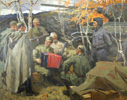 Александр Федорович Годунов. На привале