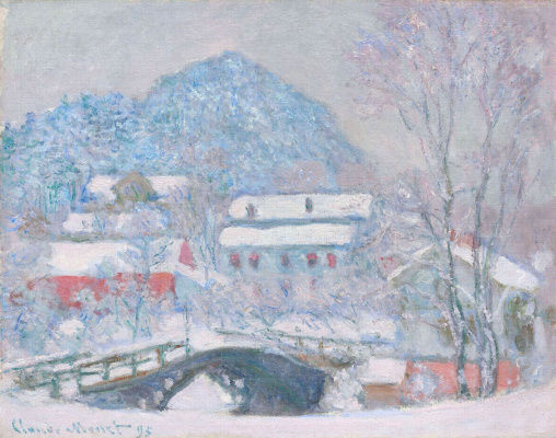 Claude Monet. Norway, Sandviken village in the snow