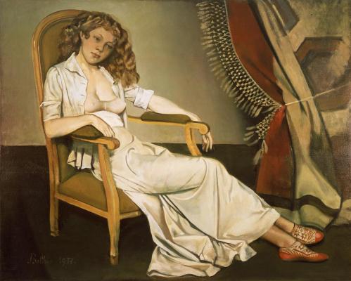 Balthus (Balthasar Klossovsky de Rola). White skirt