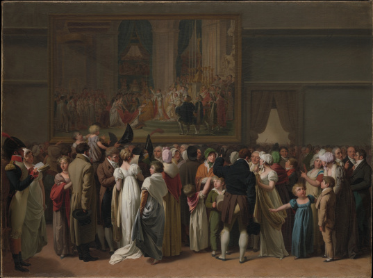 "Louis-Leopold Boi. Public viewing of the ""Coronation"" of David in the Louvre"