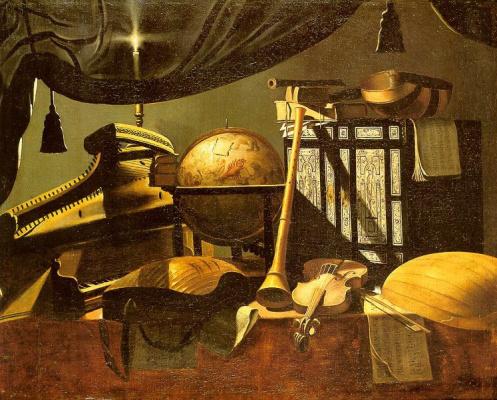 Evaristo Baskenis. Still life with musical instruments