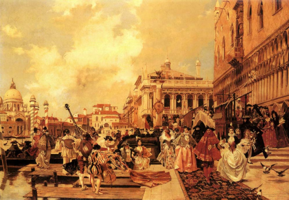 Франсуа Фламенг. Карнавал в Венеции