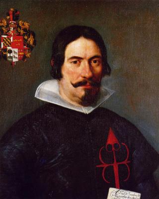 Diego Velazquez. Portrait of Francisco de Abarca Bandres
