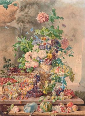 Петр Федорович Соколов. Цветы и фрукты