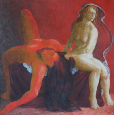 """Polina Raeva. """"Whose Victory? (Samson and Delilah)"""", page 4 of the series """"Bible Stories"""""""