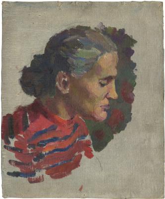 Alexandrovich Rudolf Pavlov. Portrait of mother, Evdokia Karpovna.