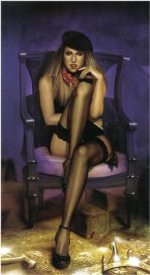 Лоренцо Сперлонга. Девушка в черных чулках