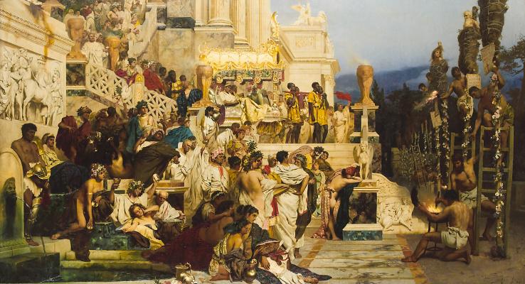 Генрих Ипполитович Семирадский. The lights of Christianity. The Torches Of Nero