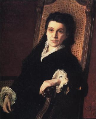 Ilya Efimovich Repin. A portrait of social activist P. S. Stasova, wife of D. V. Stasov