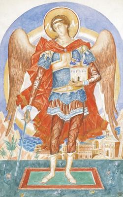 Kuzma Sergeevich Petrov-Vodkin. The Archangel Michael. Sketch