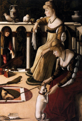 Vittore Carpaccio. Two Venetians (courtesans)