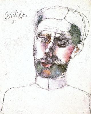 Франко Джентилини. Портрет мужчины с усами