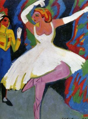 Ernst Ludwig Kirchner. Russian dancer