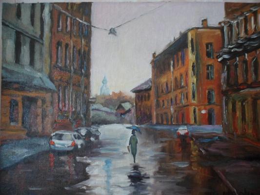 Александр Никульшин. Город в дождь