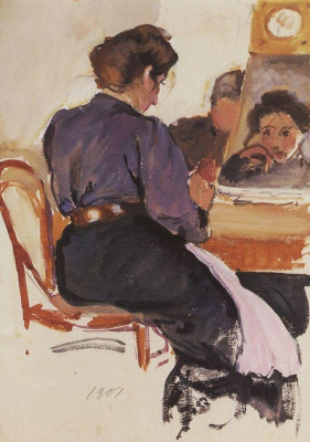 Zinaida Serebryakova. Self-portrait at the table