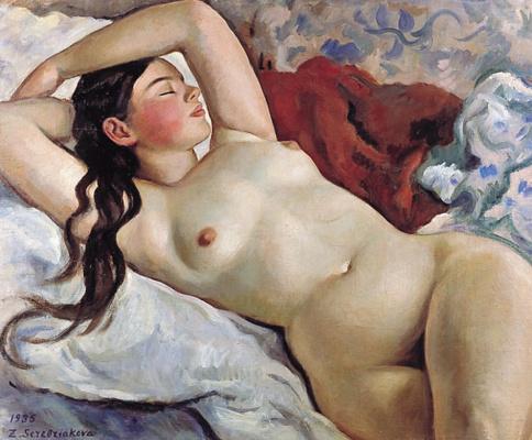 Zinaida Serebryakova. Reclining Nude: a portrait of Mlle. Nevedomskii