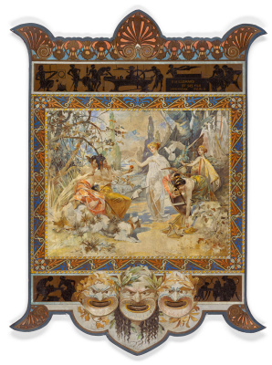 Alphonse Mucha. The Judgment Of Paris