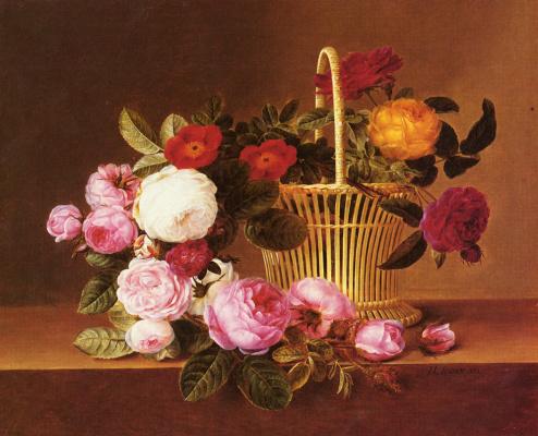 Йохан Лоренц Дженсен. Корзина роз