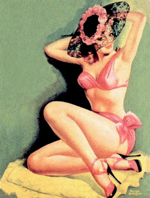 Peter Driben. Pink swimsuit