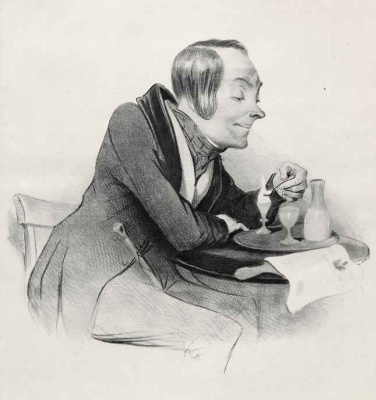 Honore Daumier. Ice cream