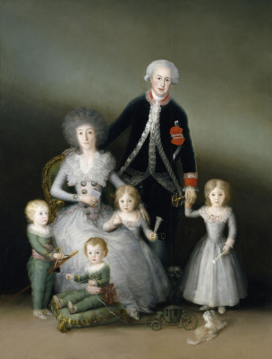 Francisco Goya. Family portrait of the Duke of Osuna with children