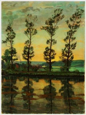 Einar Wegener (Lily Elbe). Poplars at Hobro