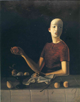 Andre Derain. Jane holds an Apple