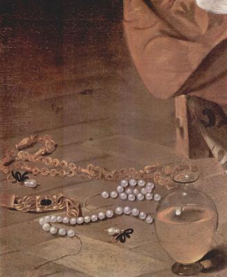 Michelangelo Merisi de Caravaggio. Penitent Mary Magdalene. Fragment