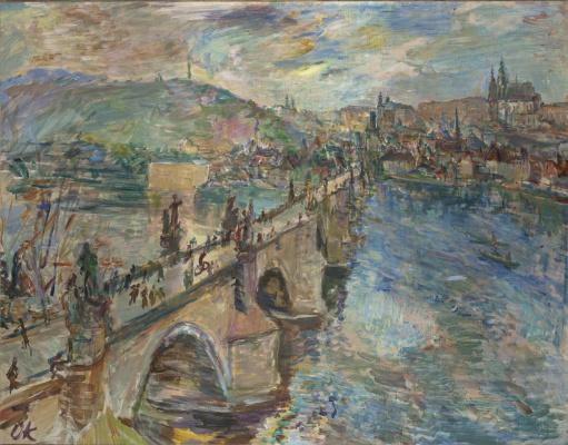 Oskar Kokoschka. The Charles Bridge