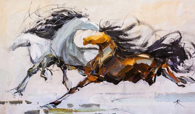 "Jose Rodriguez. ""Horses N1"""
